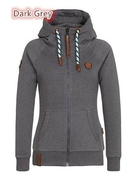 Multi Colors Hooded Slim Women's Hoodie