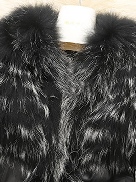 Faux Fur Lapel PU Short Plus Size Women's Jacket