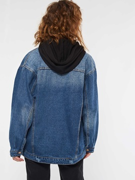 Long Sleeve Single-Breasted Denim Women's Jacket