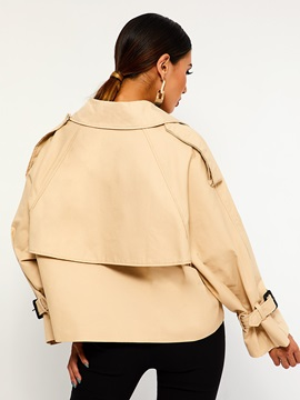 Double-Breasted Loose Standard Peter Pan Collar Women's Jacket