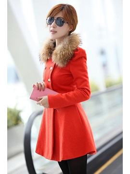 Stylish Slim Long Sleeves Double-breasted Korean Trench Coat