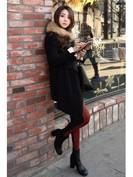 Retro Long Korean Lapel New Overcoat