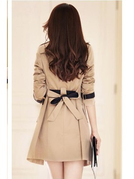 Handsome Slim Korean Style New Trench Coat