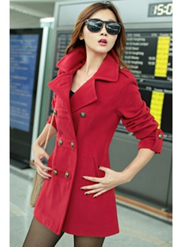 New Stylish Lapel Double-Breasted Overcoat