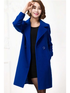 Chic Multi Colored Lapel Two Button Trench Coat