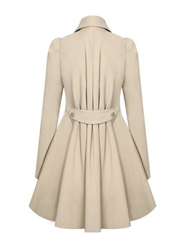 Cool Selling Stylish Lapel Collar Slim Trench Coat