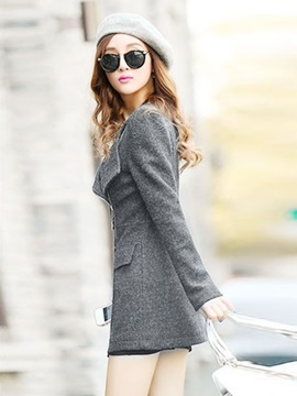 Splendid Sloping Zippered Trench Coat