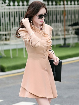 Stylish Collar Single Breasted Trench Coat