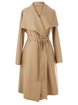 Big Lapel Belt Slim Trench Coat