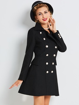 Chic Dress Hem Slim Trench Coat