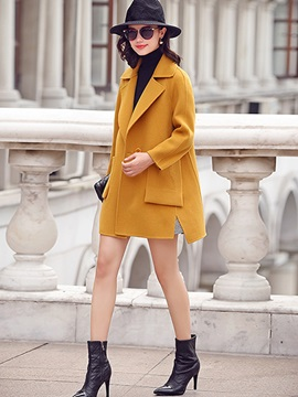 Stylish One Button Straight Trench Coat