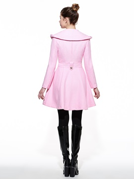 Stylish Collar Big Hem Trench Coat