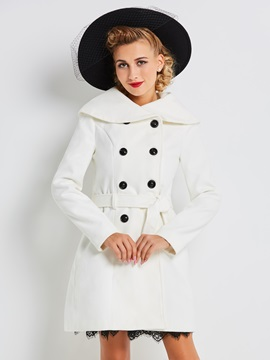 Stylish Collar Slim Trench Coat