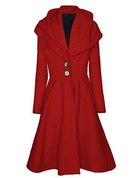 Stylish Collar Two Button Slim Trench Coat