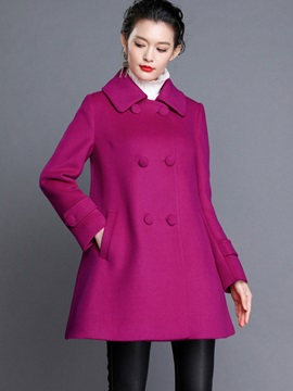 Chic Double-Breasted Slim Trench Coat