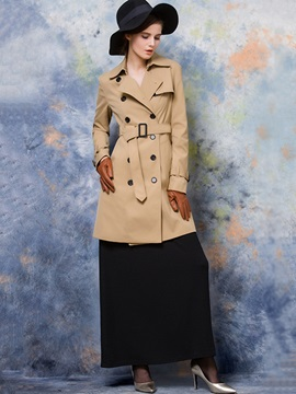 England Style Double Breasted Slim Trench Coat