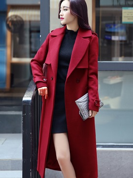 Winter Special Lapel Long Trench Coat