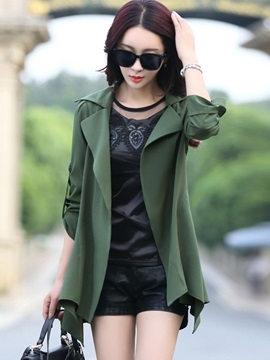 Stylish Multi Color Loose Trench Coat