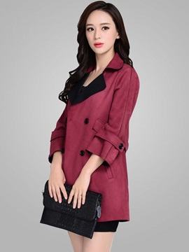 Stylish Lapel Mid-Length Loose Trench Coat