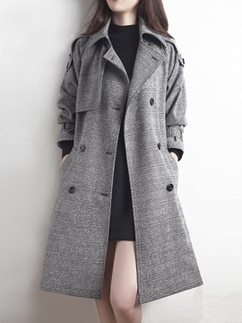 British Style Lapel long Trench Coat