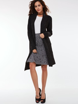 Stylish Pockets Long Sleeve Trench Coat