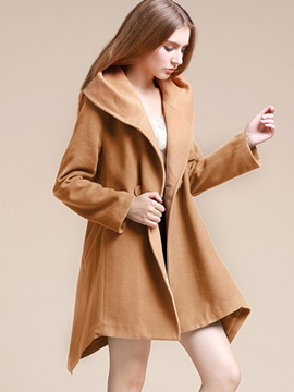 Stylish Color Block Loose Trench Coat