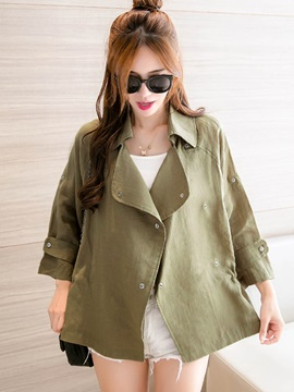 Stylish Loose Lapel Trench Coat