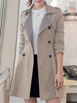 Double Button Lapel Women's Trench Coat