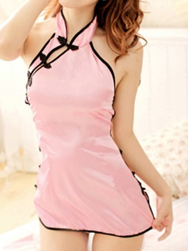 Charming Pink Lapel Costume