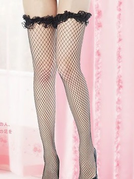 High Quality Black Mesh Women Stockings