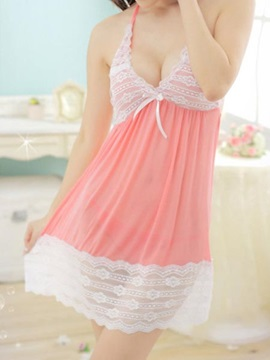 Enchanting Deep V-Neck Patchwork Babydoll