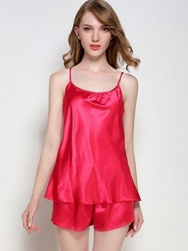 Scoop Simple Plain Short Summer Women's Sleepwear