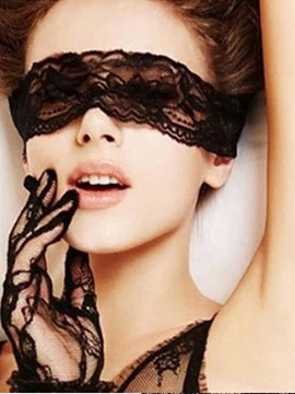 Sexy Accessories Lace Blindfold Handcuffs 3 Pieces