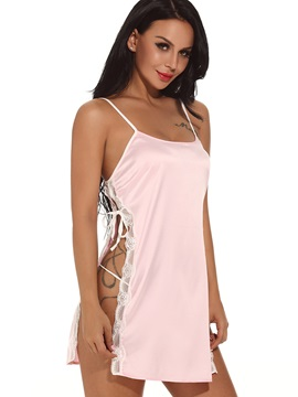 Pure Color Side-Slit Babydoll