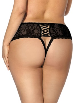 Crotchless Lace Sexy Brief