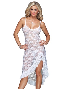 Asymmetric Falbala Lace Mid-Calf Tight Wrap Sexy Dress