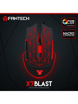 FANTECH X7 Macro RGB Lights Wired Gaming Mouse 4 Adjustable DPI Levels