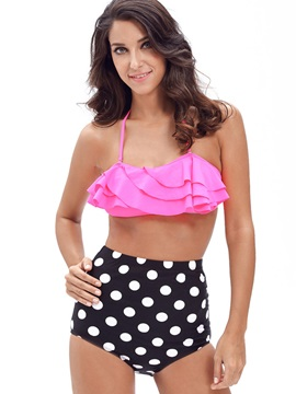 Loveable Falbala Polka Dots Bikini Set