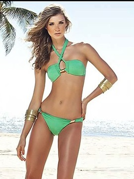 Western Nylon Two Piece Bikini Swimsuit