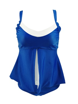 Plus Size Color Block Patchwork One Piece Bathing Suit
