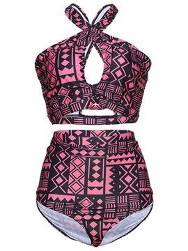 Hollow Geometric Sexy Tankini Set
