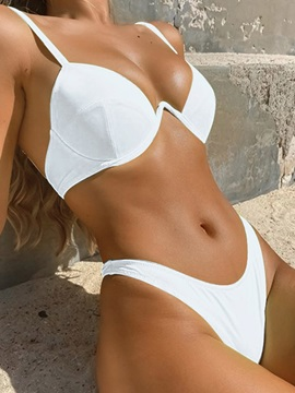 Plain Bikini Set Fashion Women's Swimwear