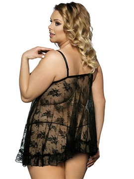 See-through Lace Women Plus Size Intimate
