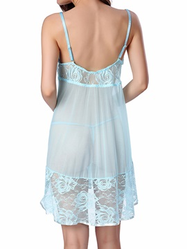 Sexy Lace Mesh See-Throngh Babydoll Sexy Lingerie