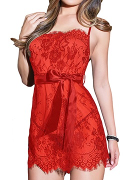 Sexy Bowknot Belt-Decorated Babydoll