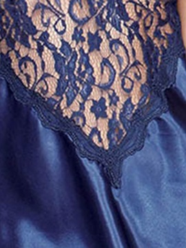 Lace Backless See Through Nightgown