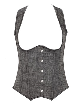 Comfortable Gray Underbust Close-Fitting Corset