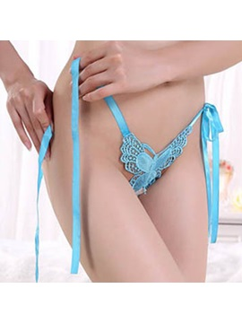 Strappy Bowknot Lace Thong