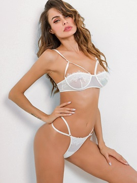 Half Cup Three-Point Sexy Bra Set