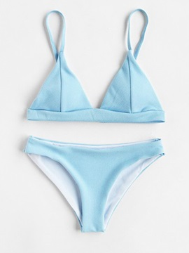 Plain Triangle Cute Bikini Bathing Suits